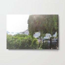 Sunshine in Lindos Metal Print