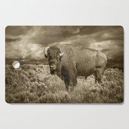 American Buffalo in Sepia Tone Cutting Board