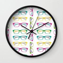 Eye glasses pattern Wall Clock
