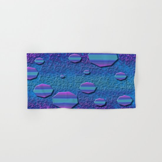Celestial Octagon Orbs of Planet Neptune Hand & Bath Towel