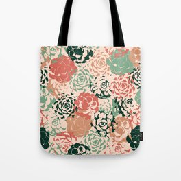 Stamped Succulents Tote Bag