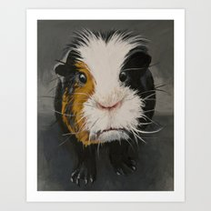 Toby the Guinea Pig Art Print