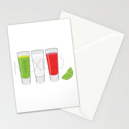 Mexico Tequila Shots Stationery Cards