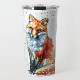 FOX 2 watercolor Travel Mug