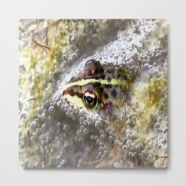 I'm Forever Blowing Bubbles Cute Frog Metal Print