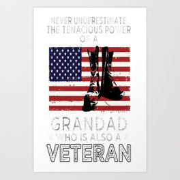 Grandad who is also a Veteran Gifts Art Print