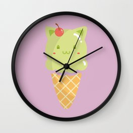 Pistachio Ice-cream Wall Clock