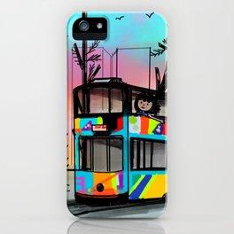 Little girl in a tram iPhone Case