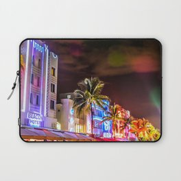 Ocean Drive South Beach Miami Florida Laptop Sleeve