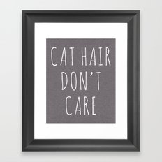 Cat Hair Funny Quote Framed Art Print