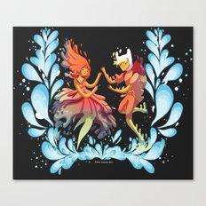 Flame Princess in Love Canvas Print
