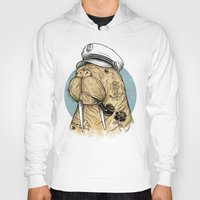 walrus Hoodies featuring WALRUS by Thiago Bianchini