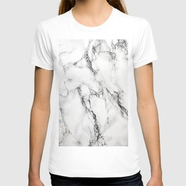 White Marble Texture T-shirt