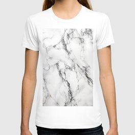 White Marble Texture T-shirt