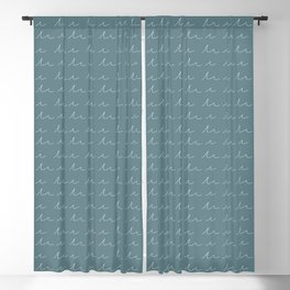 Waves in Blue/Grey Blackout Curtain