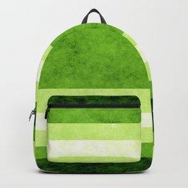 Grunge Stripes Simple Modern Minimal Pattern - Lime Green Backpack