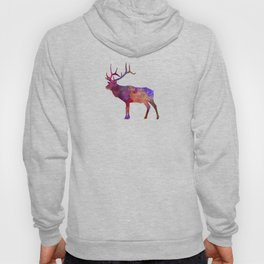 Elk 01 in watercolor Hoody