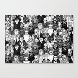 Horror Film Monsters Canvas Print