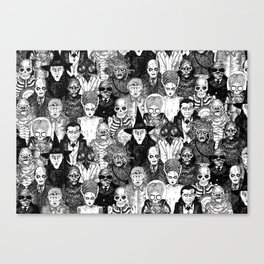 Horror Film Monsters Canvas Print