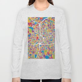 Atlanta Georgia City Map Long Sleeve T-shirt