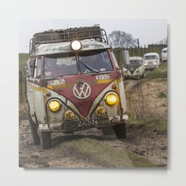 Offroad with vintage cars Metal Print