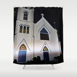 Church under the Lights Shower Curtain