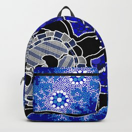 Baby Sea Turtles - Aboriginal Art Backpack