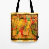 code Tote Bags featuring Zip Code by Jose Luis