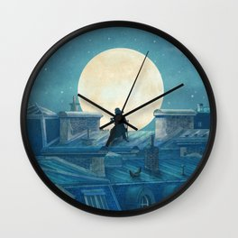 Rooftoppers Wall Clock