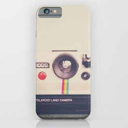 a portrait of a vintage camera iPhone Case