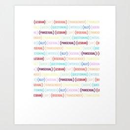 (RED) PRIDE x Javier Munoz Love is Love T-Shirt Art Print