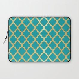 Moroccan Gold & Turqoise Laptop Sleeve