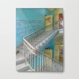 Lost Places, Beelitz Heilstaetten stairs Metal Print