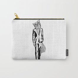Gentle Owl / B&W Carry-All Pouch