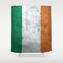 Distressed Irish Flag Shower Curtain