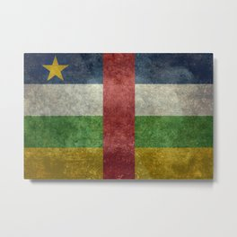 National flag of the Central African Republic or CRA - Vintage version to scale Metal Print