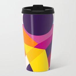 Abstract modern geometric background. Composition 8 Metal Travel Mug
