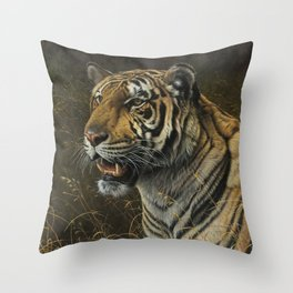 Tiger Portrait by Alan M Hunt Throw Pillow