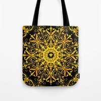 versace Tote Bags featuring Versace Gold by Goldflakes