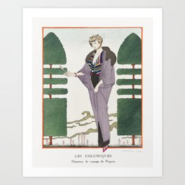 Mme Ida Rubinstein dans La Dame aux Camelias (1923) fashion  in high resolution by George Barbier Art Print