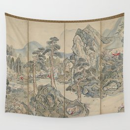 Orchid Pavilion Gathering Wall Tapestry