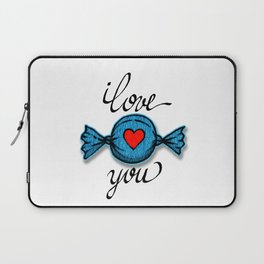 I love you (blue) Laptop Sleeve