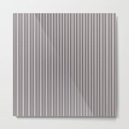 Grey Metal Bars Vertical Lined Stripes Metal Print