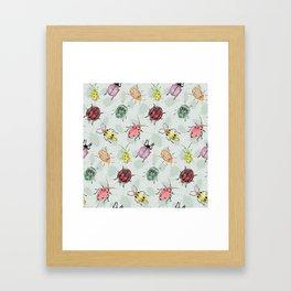 rainbow bugs Framed Art Print