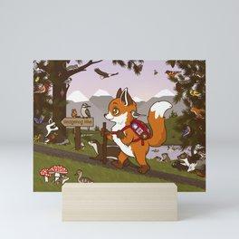 Foxy Trail Mini Art Print