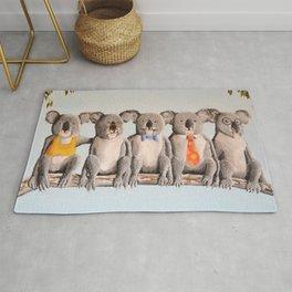 The Five Koalas Rug