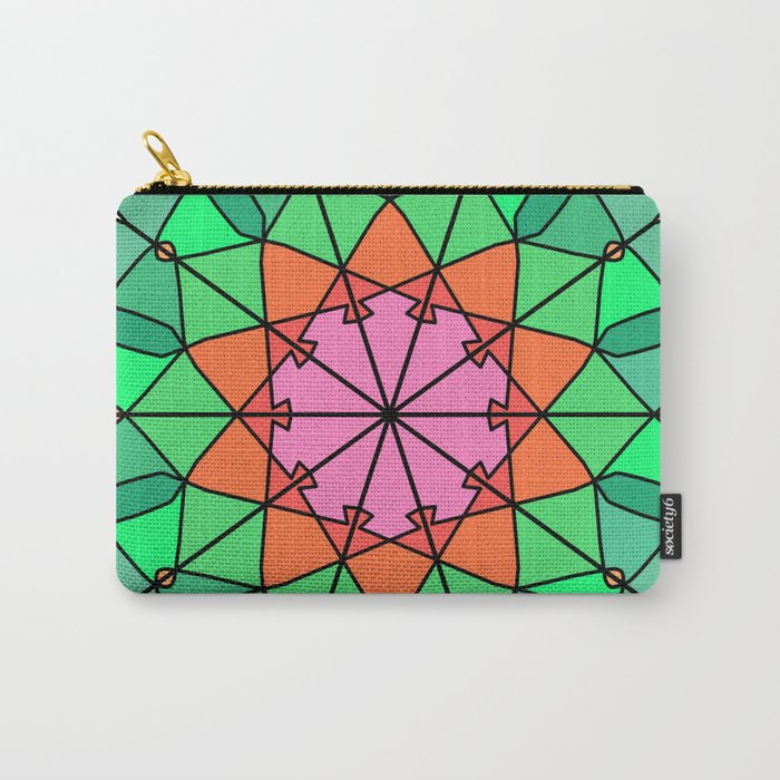 Abstract bohemian mandala fractal Carry-All Pouch
