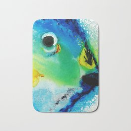 Tropical Fish 2 - Abstract Art By Sharon Cummings Bath Mat