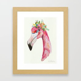 flamingo flowers Framed Art Print