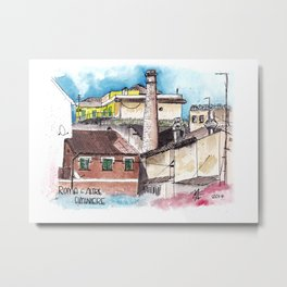 Rome and one of its old chimneys Metal Print